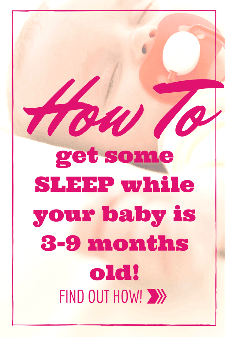 Learn how to get some sleep while your baby is 3-9 months old! There is hope after they grow out of the swaddle blanket!
