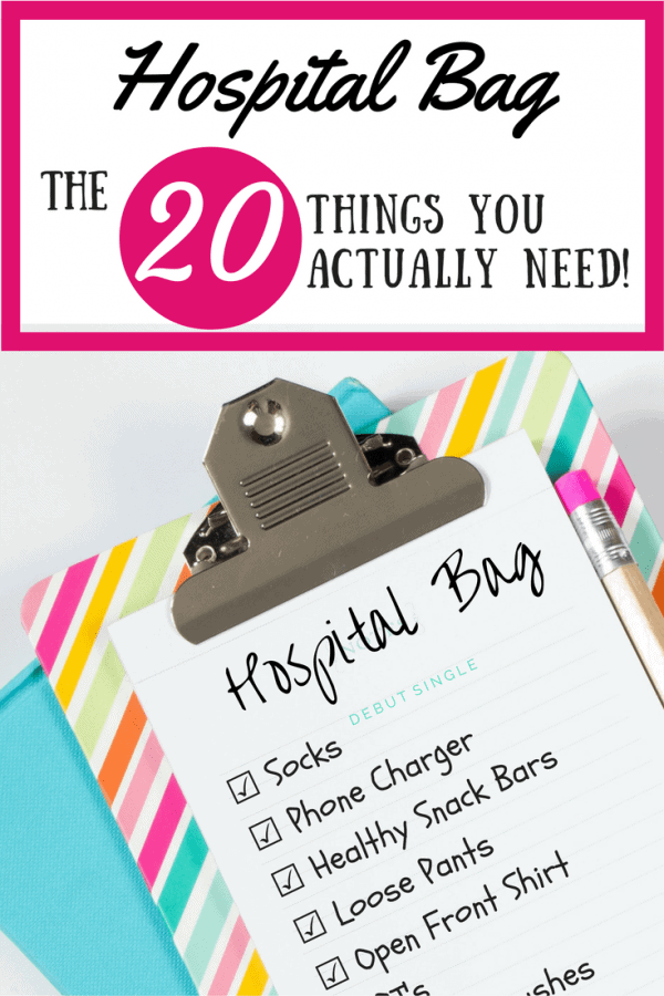 The only things you REALLY need in your hospital bag! This is the hospital bag checklists for minimalistic moms to be. Pregnant? Repin for later or click through to get the best hospital bag checklist.