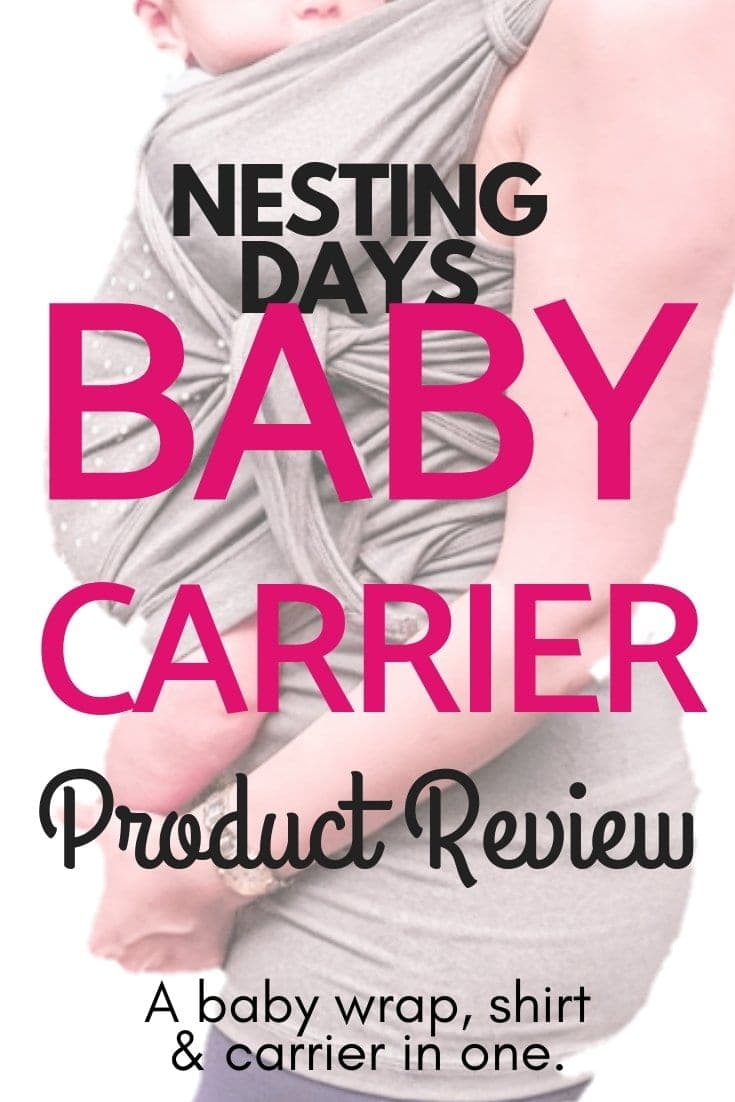 Looking for the easiest baby wrap? Read this Nesting Days baby carrier review and find out if it's right for you! This post even includes a baby wrap tutorial video and instructions! …… //Baby wrap, Baby carrier, Baby wrap tutorial, Baby wrap newborn, Best baby wrap, Baby wrap instructions, Baby wrap holds, Baby k'tan positions, Baby k'tan newborns, Baby k'tan instructions, nesting days