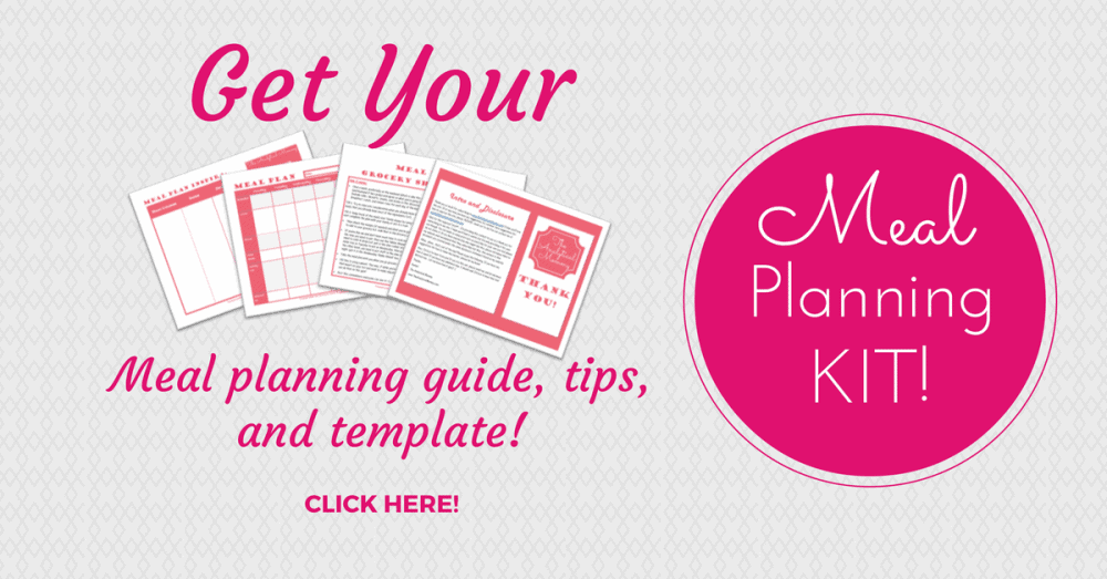 meal planning tip graphic