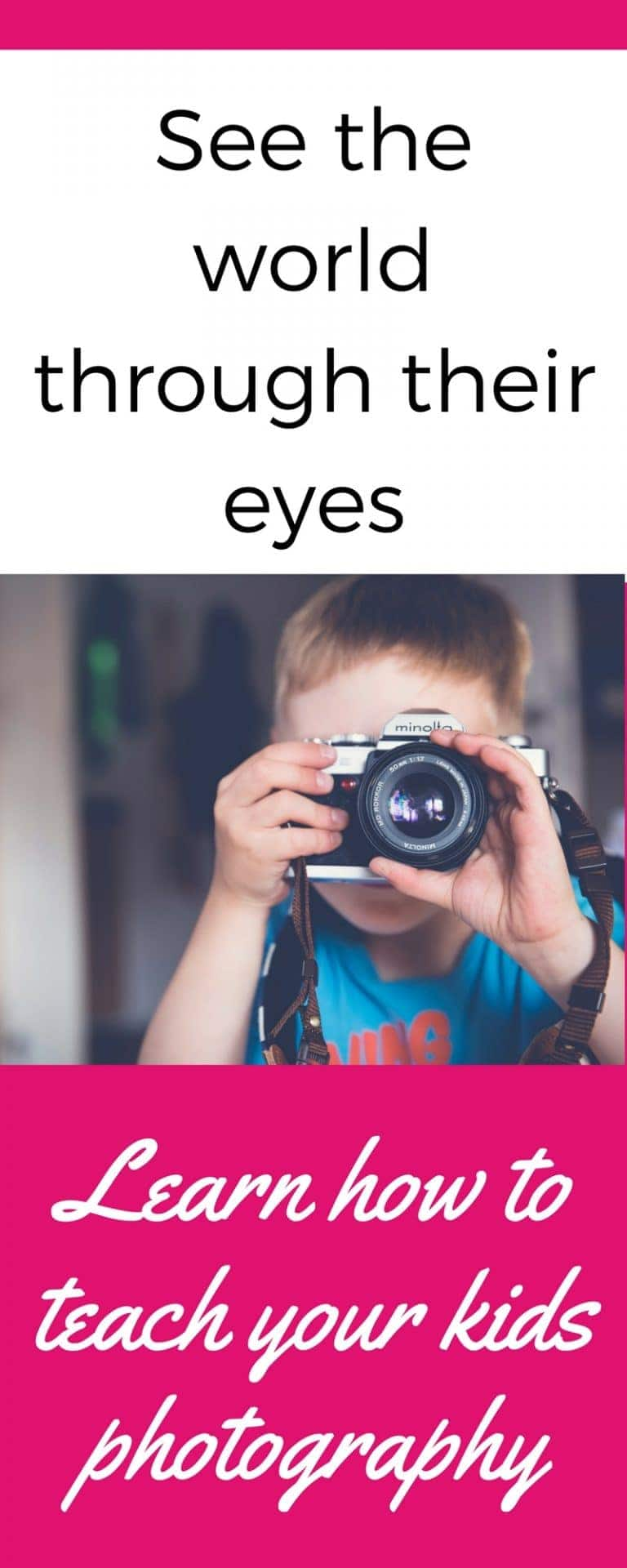 In depth but easy to follow guide for teaching your kids photography. It's a great way to bond with them and see the world through their eyes!