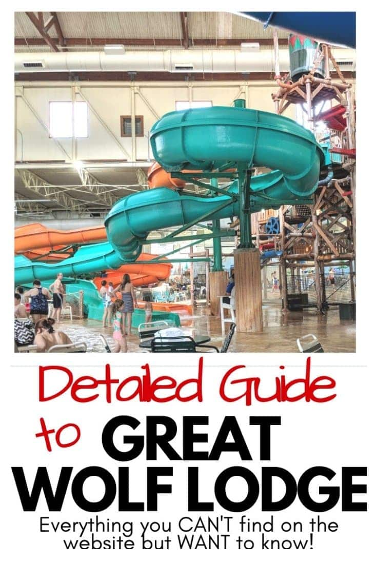 Detailed guide to Great Wolf Lodge - Pin graphic for Pinterest