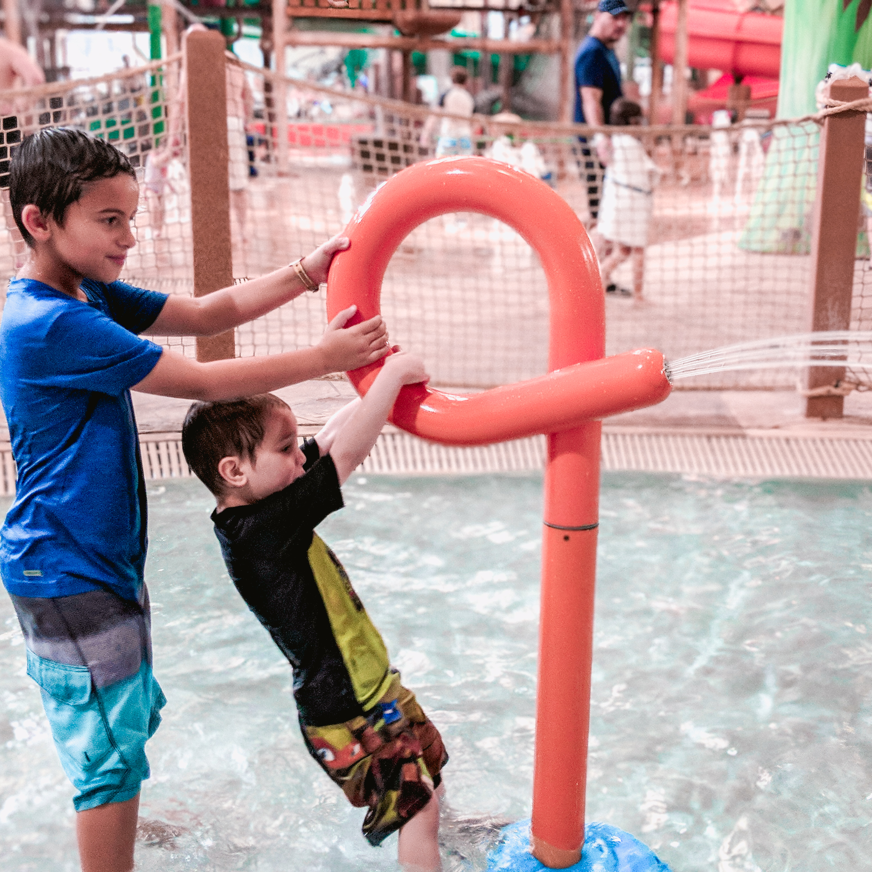 kids playing at the baby toddler area at the Great Wolf Lodge