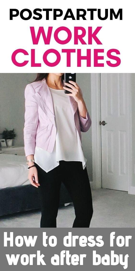 Pin for Pinterest - Postpartum Work Clothe Ideas