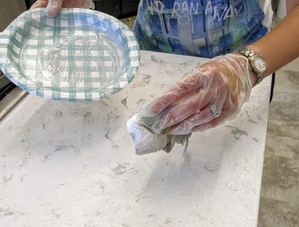 paper towel technique for painting kitchen countertops