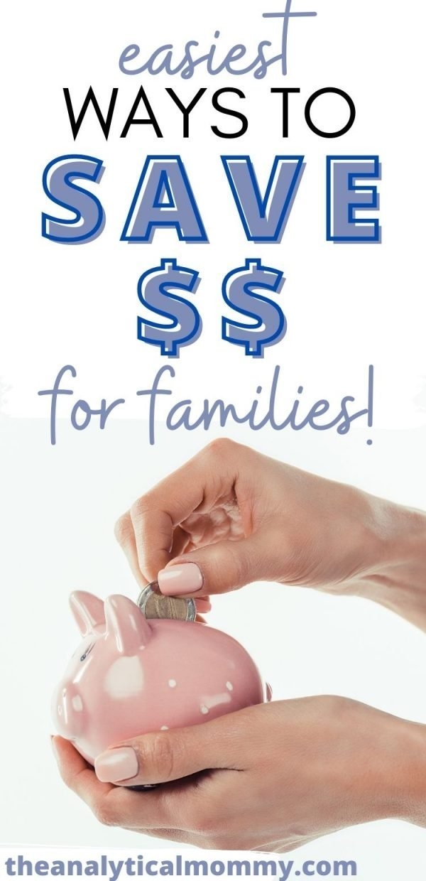 Simple Money-Saving Tips For Families - Pin Graphic for Pinterest