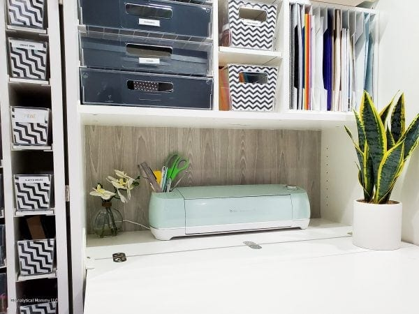 a cricut storage space within a dreambox