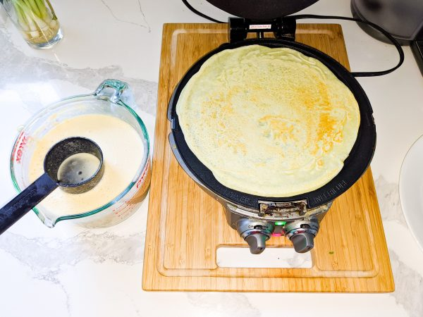 crepe batter and a crepe making machine