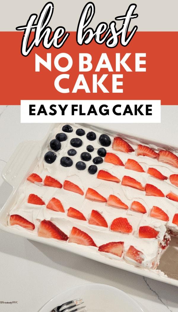 EASY FLAG CAKE NO BAKE