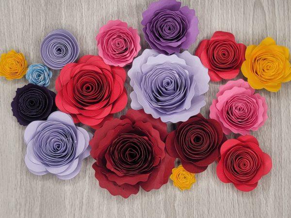 Cricut paper flower craft