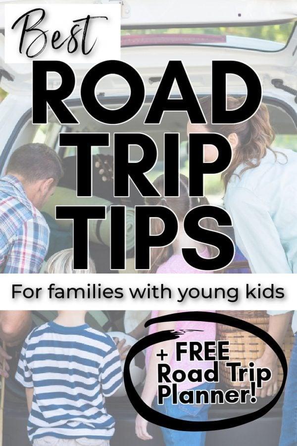 family going on roadtrip pin
