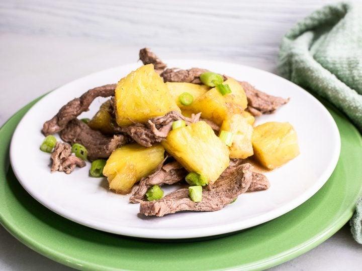 Pineapple Beef Stir Fry - 5 Ingredient Meal