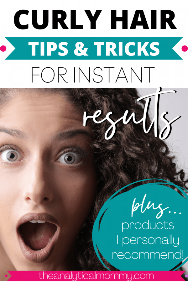 Curly Hair Tips and Tricks Pin for Pinterest