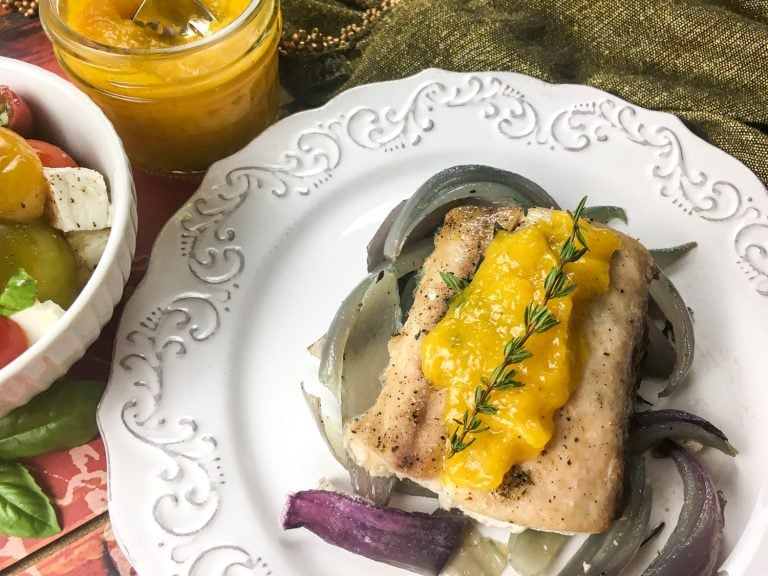 Super easy Mahi Mahi with Mango Recipe – One Sheet Pan Meal