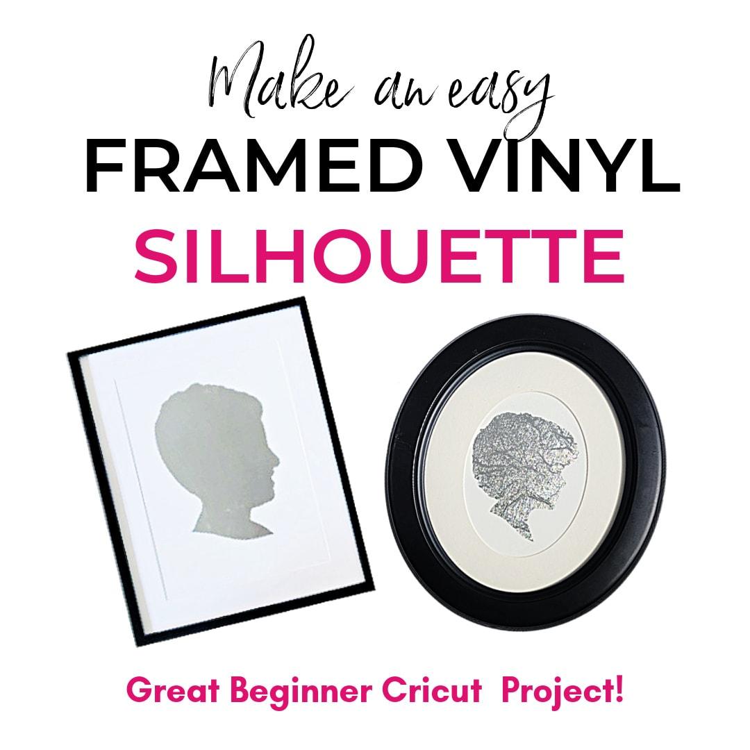 silhouette art made with cricut vinyl