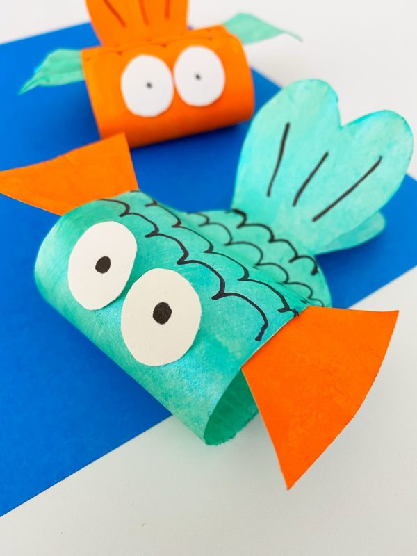 easy fish craft paper plate DIY