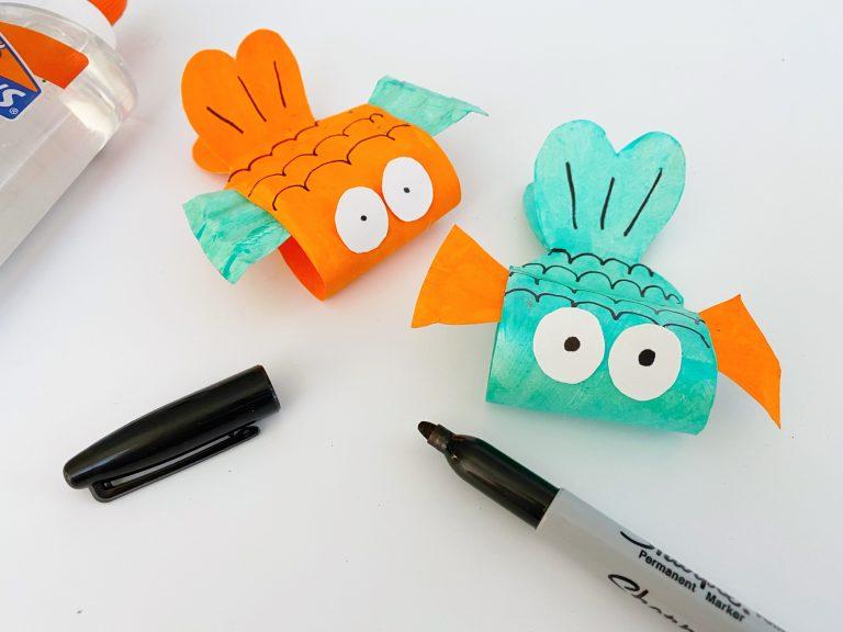 Super-Cute Little Fish CRAFT for Preschool Aged Kids Using Paper Plates!