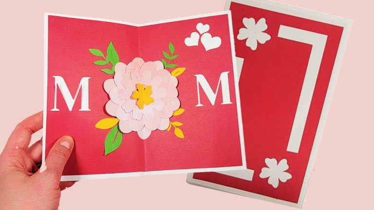 Easy Pop Up Flower Card Tutorial & Video – A Mother's Day Pop Up Card DIY!