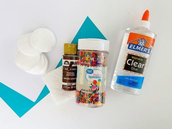supplies needed for DIY ice cream cone craft