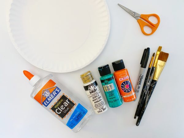 supplies to make a fish craft for preschool aged kids