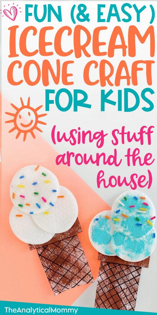 ice cream cone craft for preschoolers easy and fun