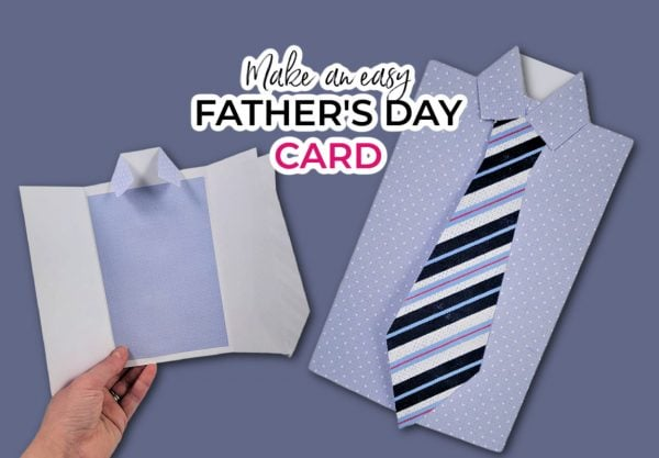 pictues of a really cute fathers day cricut idea - cut tie and shirt cards for dad
