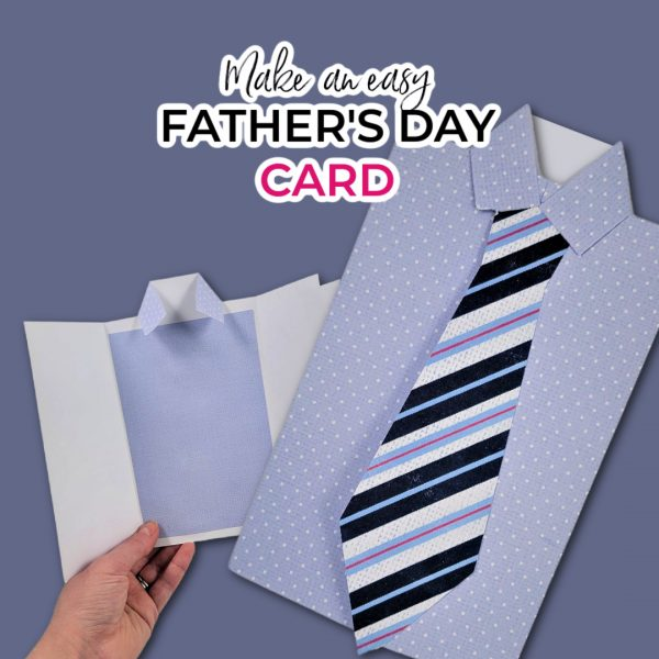 cute tie and shirt cards made with my father's day card template printable file