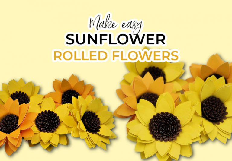 how to make paper sunflowers with Your cricut (FREE sunflower Cricut SVG)
