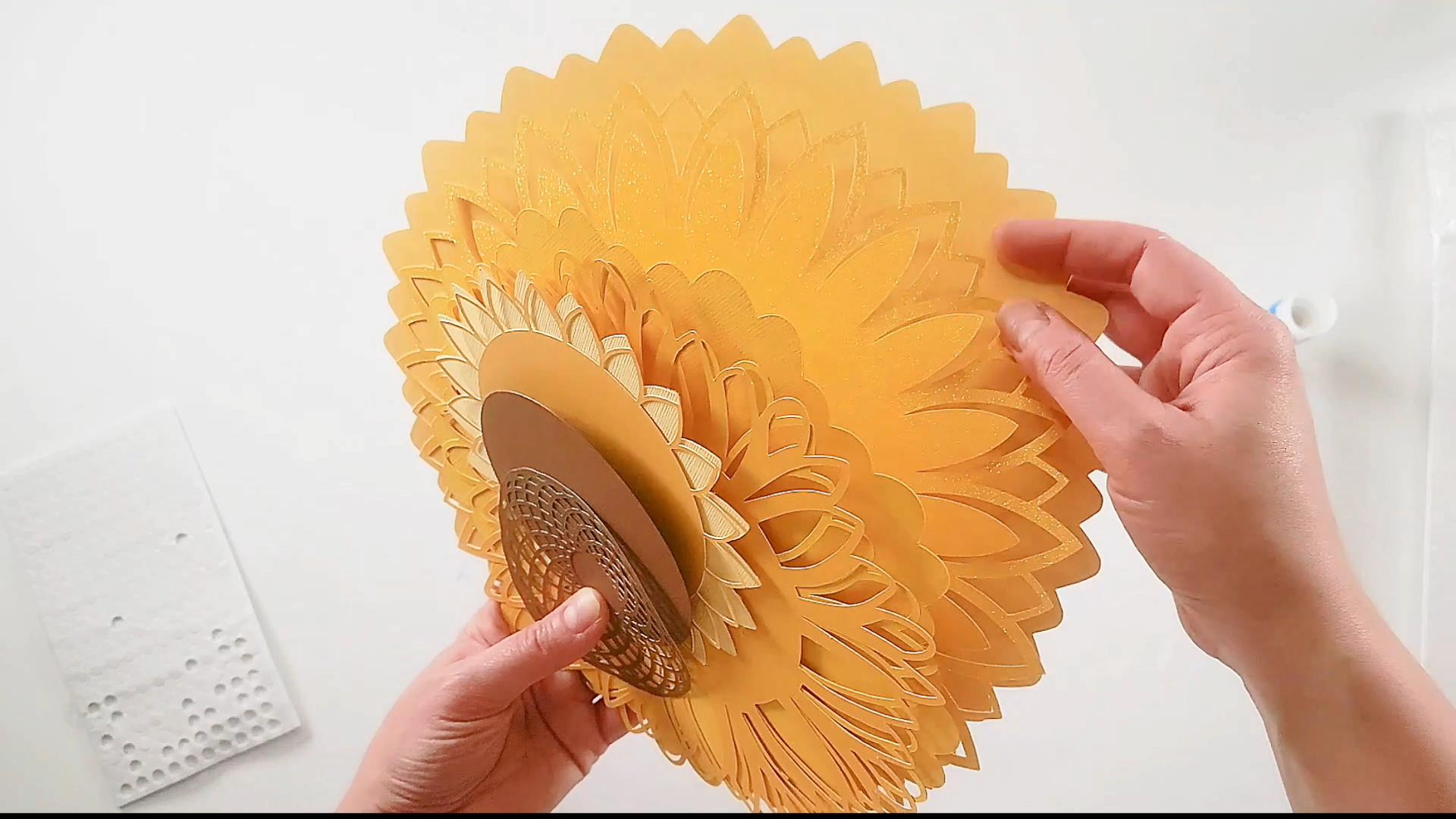 ordering the layers of your 3d sunflower mandala svg