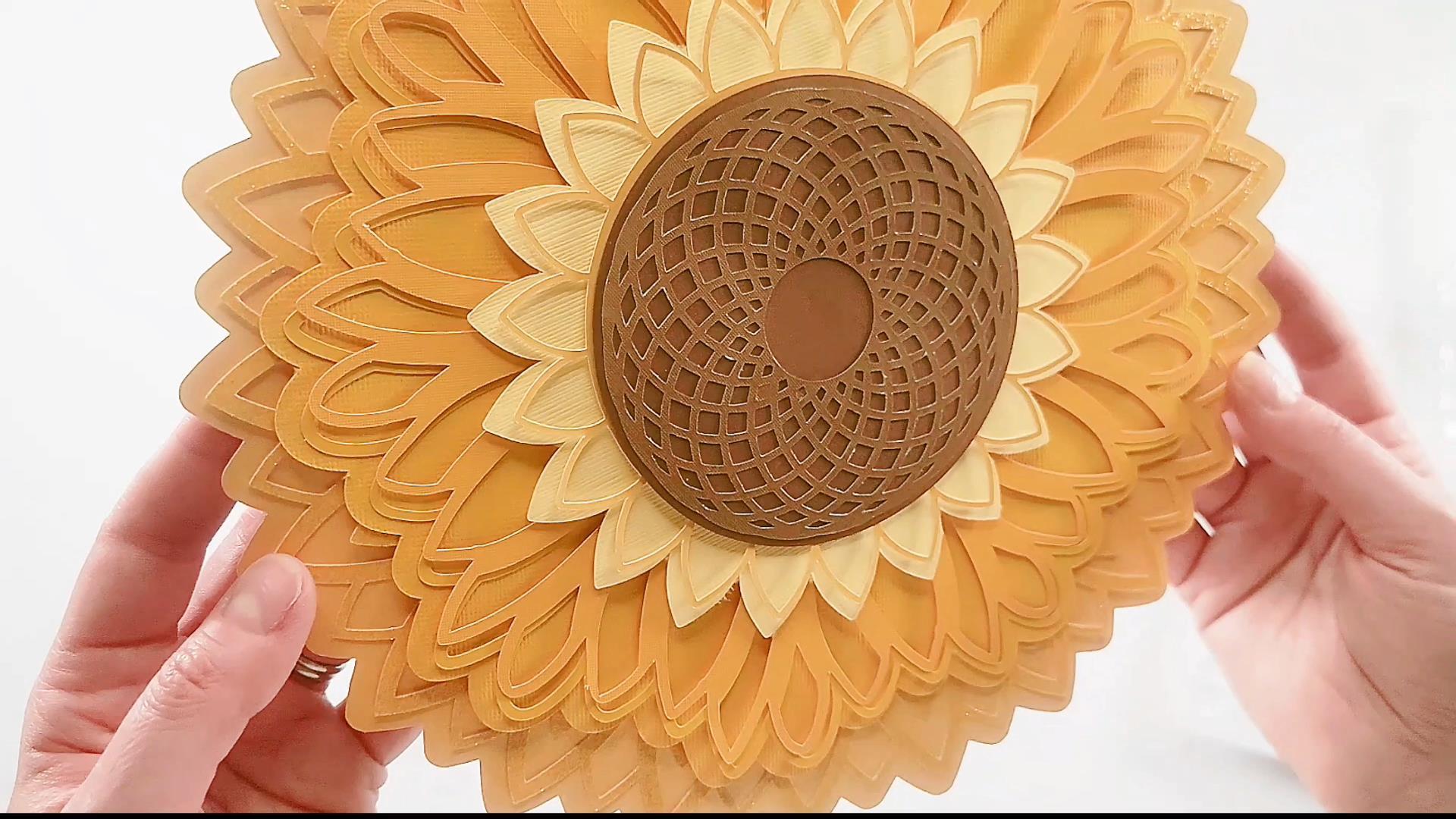our finished sunflower mandala