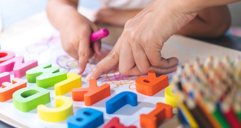 5+ activities with alphabet magnetic letters