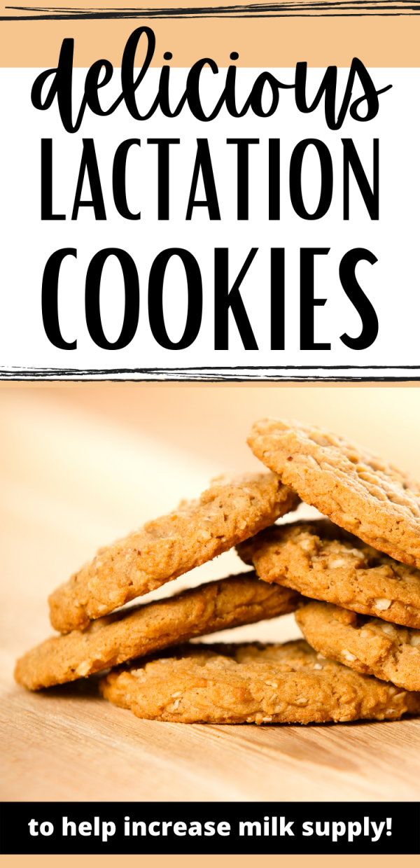 Lactation Cookies pin for Pinterest
