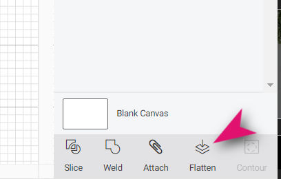 how to flatten image layers in design space