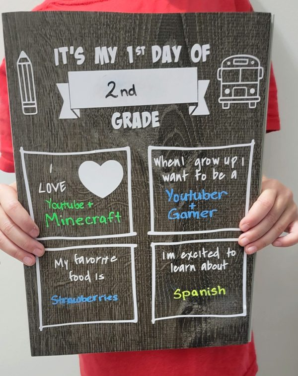first day of school picture idea and example