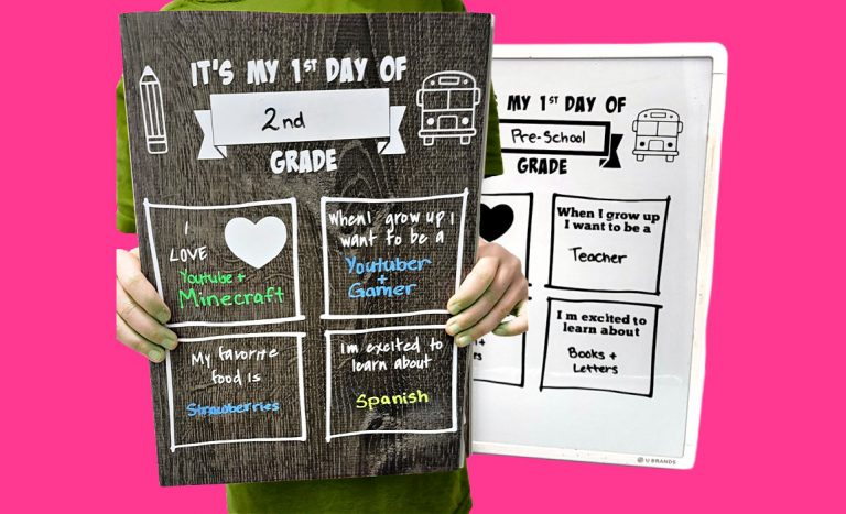 First Day of School Sign Template – FREE SVG & Printable PDF with Video!