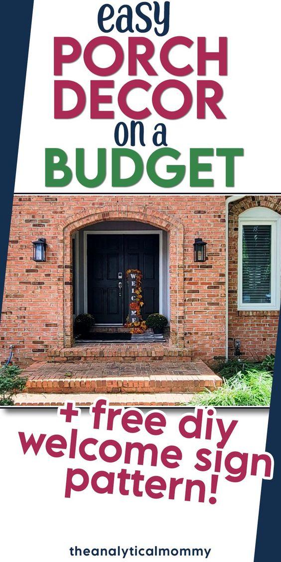 porch decor diy on a budget