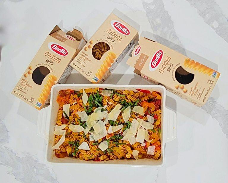 Barilla® Chickpea Rotini Review & A Roasted Tomato and Olive Oil Rotini Recipe
