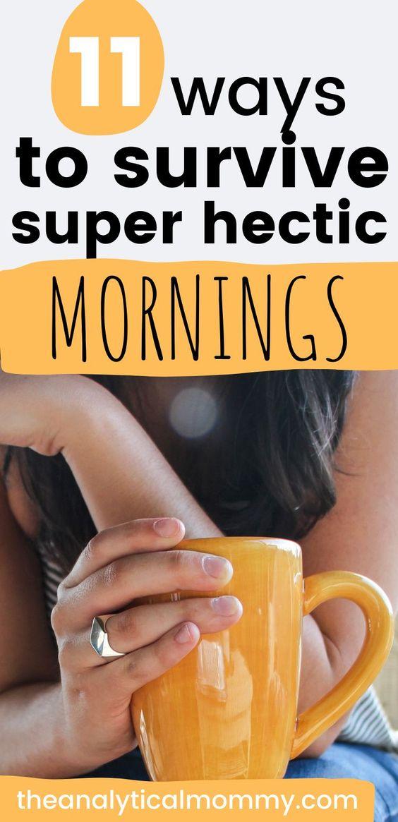 pin graphic for Pinterest, yellow coffee mug make mornings easier